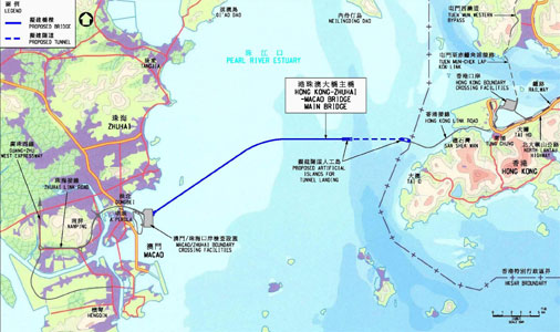 Fig 5. Layout of the Hong Kong-Zhuhai-Macao link
