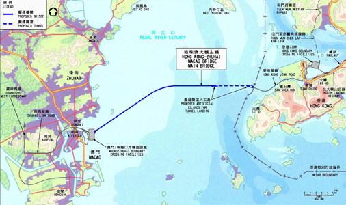 Fig 5. Layout of the Hong Kong-Zhuhai-Macao link