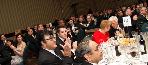 Gala dinner for awards celebrations in Toronto