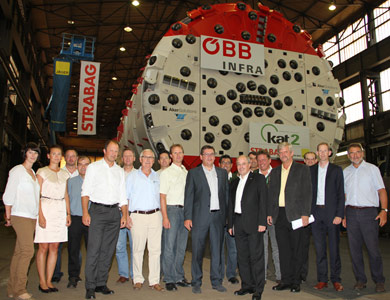 Factory approval ceremony for the first TBM