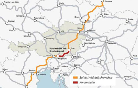 The 32.5km Koralm tunnel, a vital part of trans-Austrian and inter-European rail services