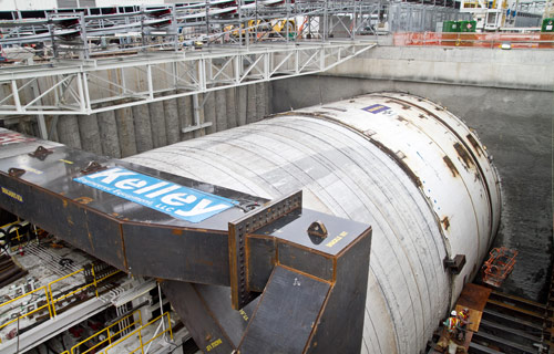 Just 10m into her drive, TBM Bertha brought to a halt by labor dispute