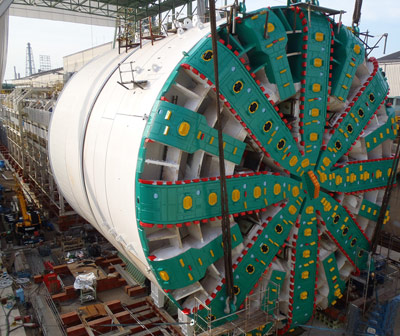 The giant TBM fully assembled and factory tested