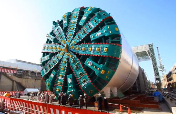 Dec 2013: TBM Bertha at Hitachi factory in Japan