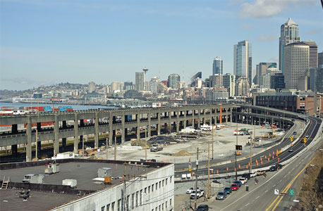 New south section of SR 99 allows first demolition of the viaduct