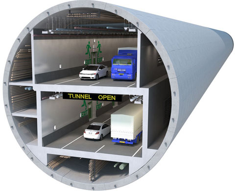 A mighty 17.5m or 58ft diameter tunnel will replace Seattle's double-decked waterfront viaduct