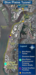 Blue Plains Tunnel alignment