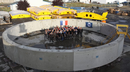 Segment ring for the world's largest ever TBM tunnel drive