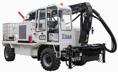 Shotcreting unit offered by Turkish company Titan