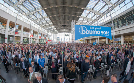 Gates open on the 31<sup>st</sup> staging of bauma in 2016