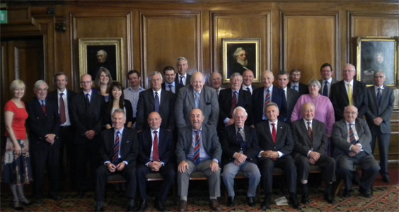 Medal recipients with the current BTS Committee Chairman and members