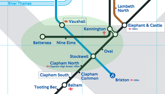 3km extension from Kennington to Battersea via Nine Elms