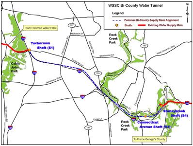 Bi-County Tunnel alignment