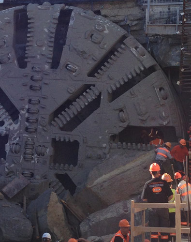 Herrenknecht hybrid TBM breaks through