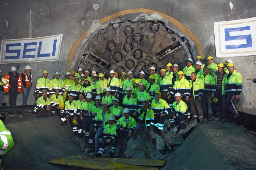 End of the exploratory tunnel celebrations - Nov 2010