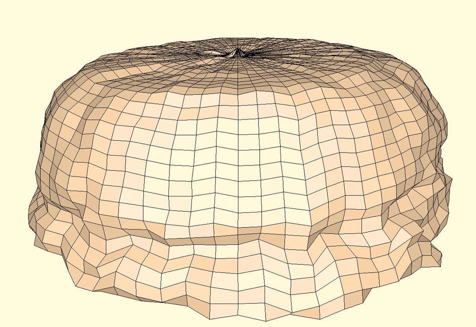 Sonar survey image of a salt cavern dome