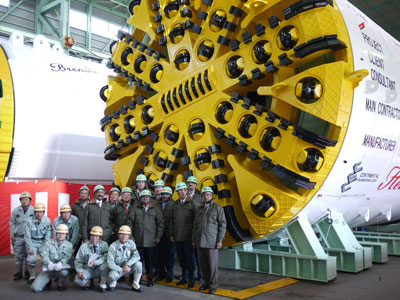 Two Hitachi TBMs ready to ship from Japan to Bangalore