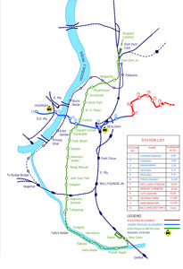 The metro extension in Kolkata take the service under the Hooghly River