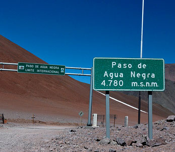 Agua Negra pass is closed for much of year