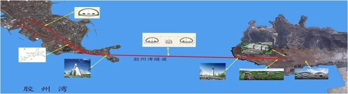 Undersea link in Qingdao city's highway system