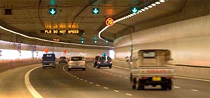 Lighting control in Singapore's underground KPE highway