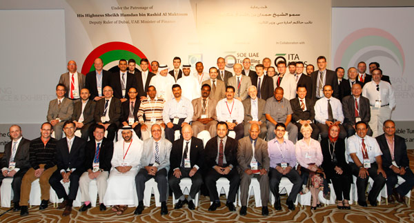 Part of the delegation of about 600 that attended the first ATC – TunnelTalk Editor, front row, fourth from right