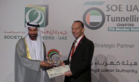 Engineer Essa Al Maidoor, President of the Society of Engineers – UAE with Søren Eskesen, President of the ITA