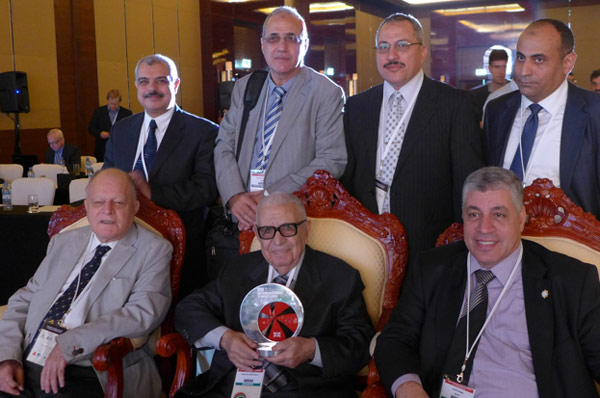 Mohamed with colleagues from Egypt