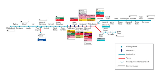 Full extent of the new rail network for the UK capital