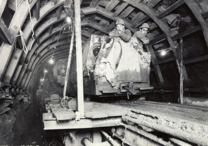 Original construction of the Rondout West Branch Tunnel of the Delaware Aqueduct in 1942 (Photos by NYC DEP Archive)