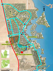Fig.3. Doha metro Red Line will link with Lusail Light Rail