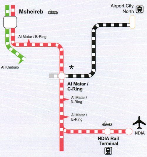 Fig 1. Doha Metro RLS and Blue Line spur