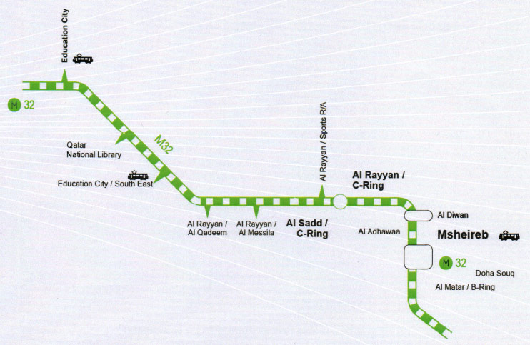 Fig 2. Green Line underground alignment