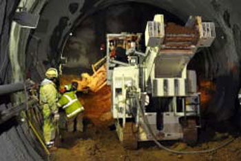Excavation of the Tysons Corner NATM tunnel