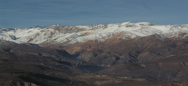 Codelco's El Teniente operations are high in the Chilean Andes