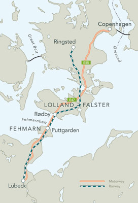 Fehmarnbelt link alignment