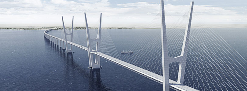 Cable-stayed bridge option