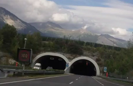 Sierre tunnel entrance portals