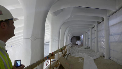 Upper level walkway