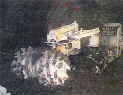 Roadheader excavation