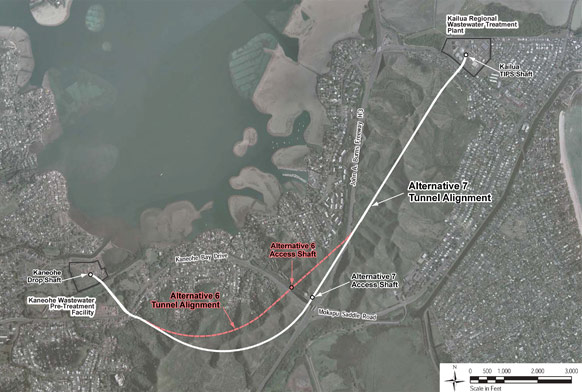 Revised Alternative-7 tunnel alignment