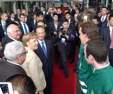 Greeting Herrenknecht employees in Guangzhou