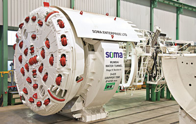 Herrenknecht 6.25m gripper TBM for Mumbai