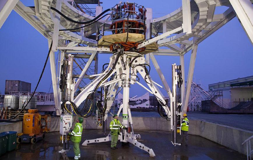 The SDJ reams pilot shafts to 8m diameter