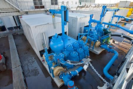 Schäfer & Urbach pump installation for the vertical drilling industry