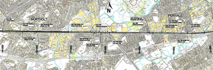 ...where it joins existing 5km tunnel, removing the need for tunnel portals at Northolt and North Acton