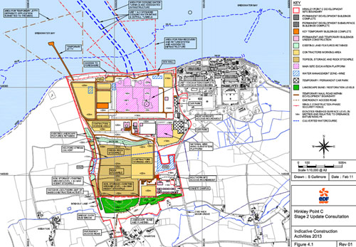Hinkley Point C design plans and intake/outfall structures