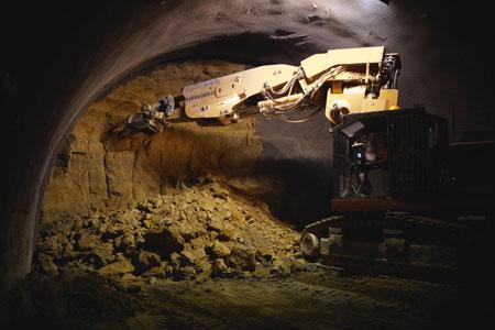 Digging the sandstone