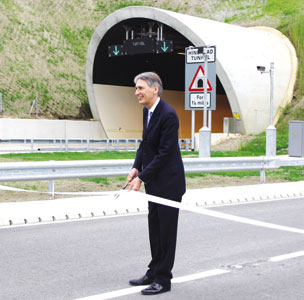Philip Hammond opens Hindhead tunnel