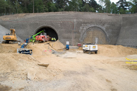 Tunnelling starts at south side